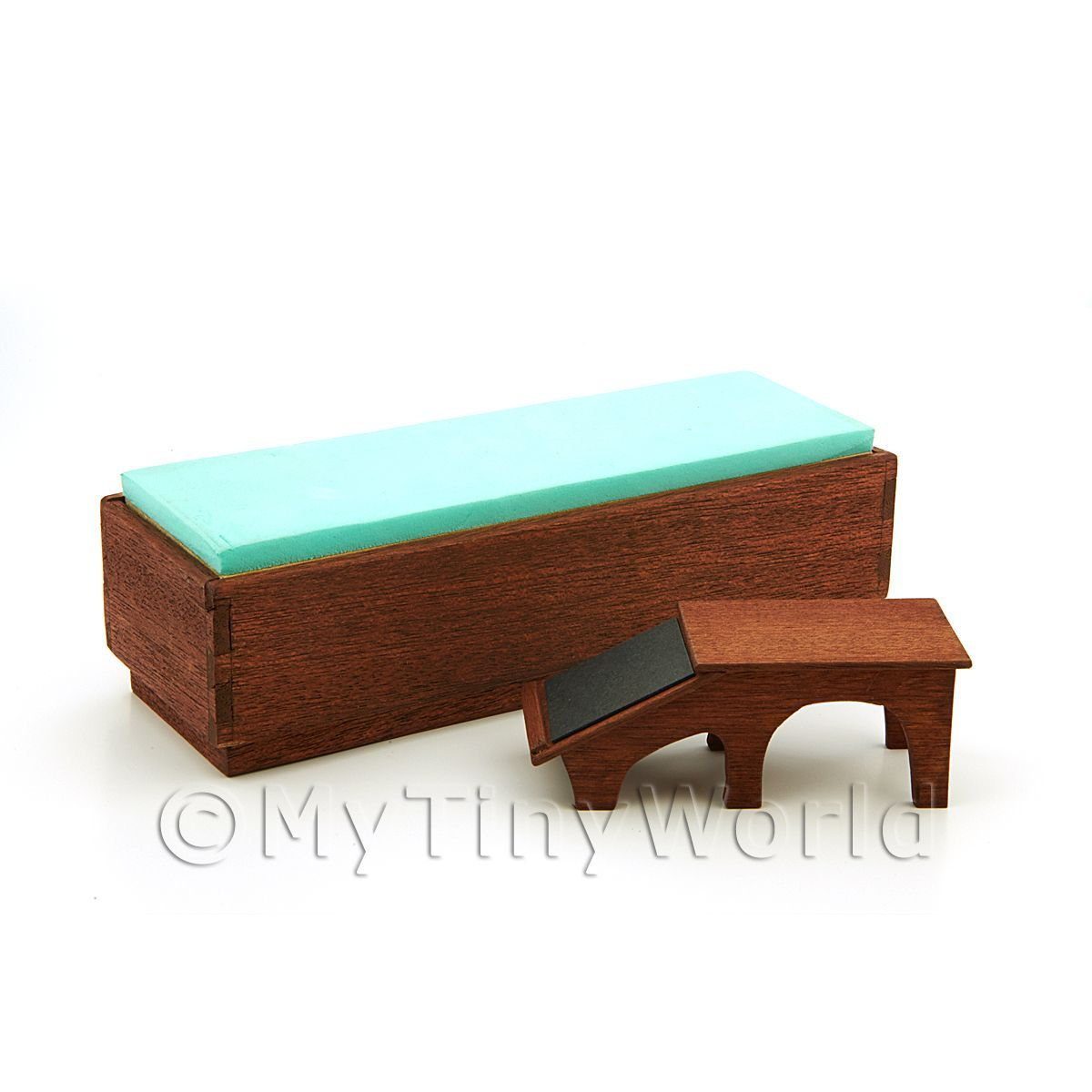 Handmade Miniature Shop Bench Seat and Foot Stool