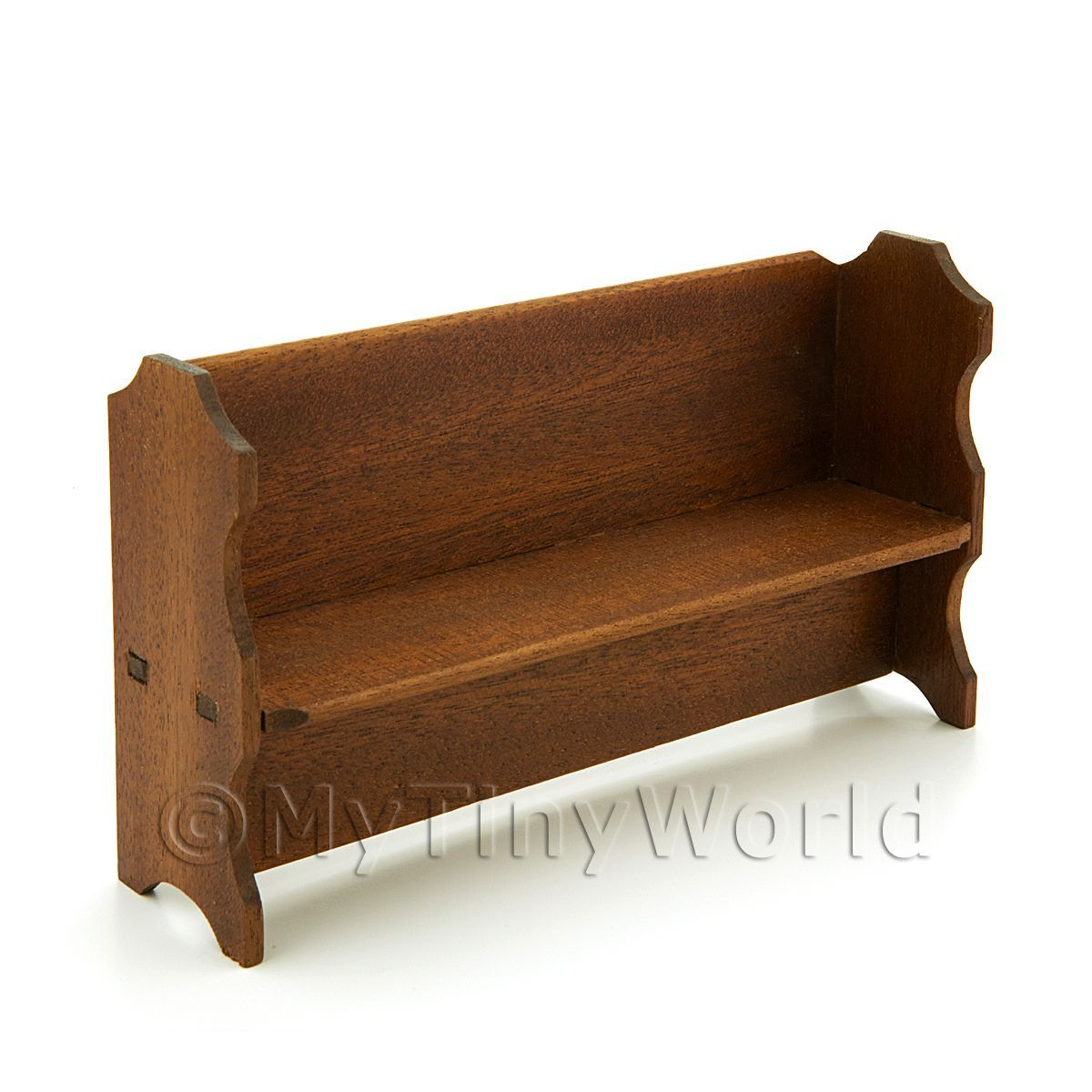 Handmade Dolls House Miniature Pew