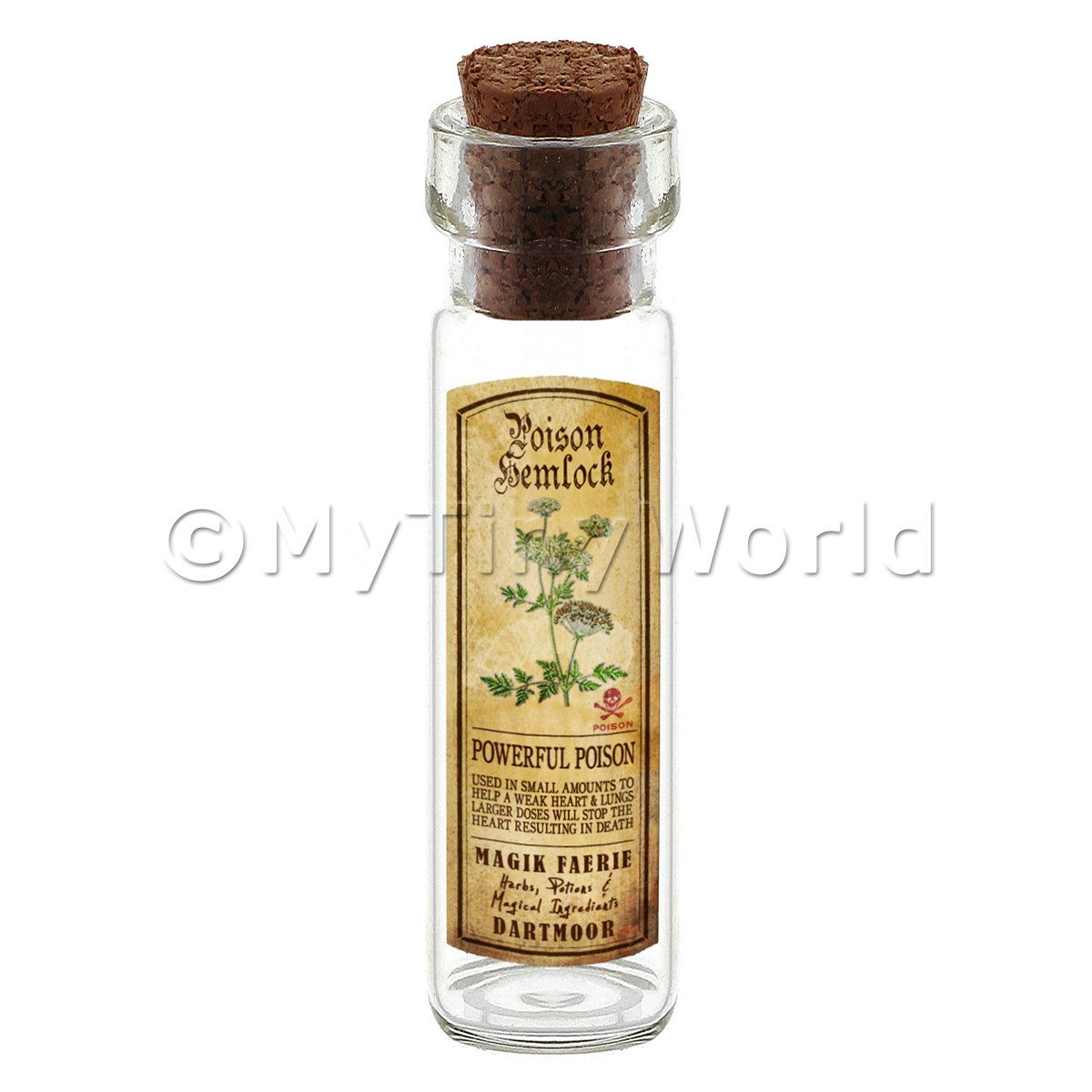 Dolls House Apothecary Hemlock Herb Long Colour Label And Bottle