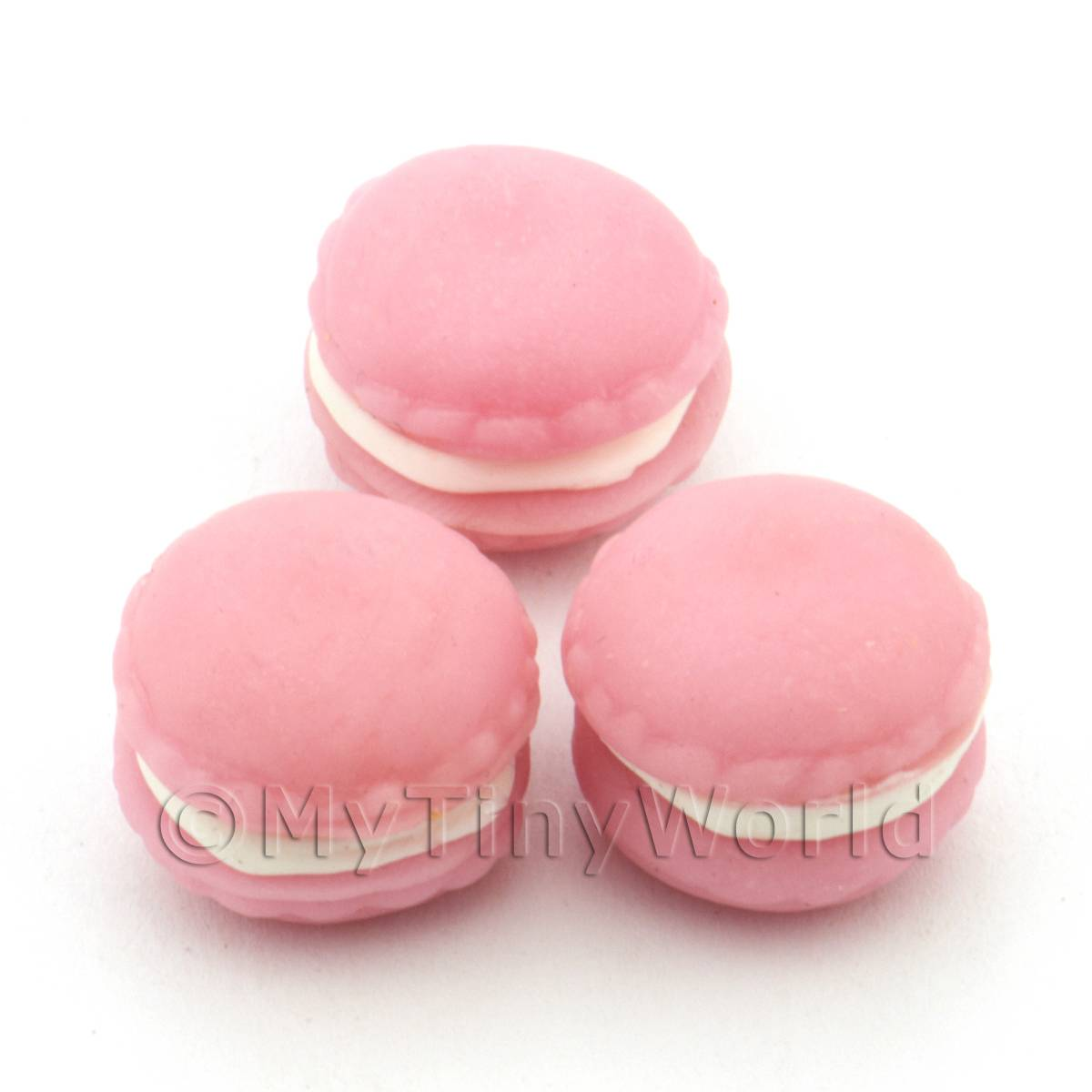 Handmade Pink Macaroon For Jewellery And Charms