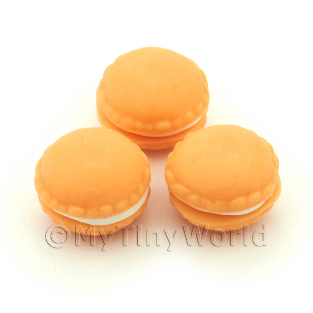 Handmade Orange Macaroon For Jewellery And Charms