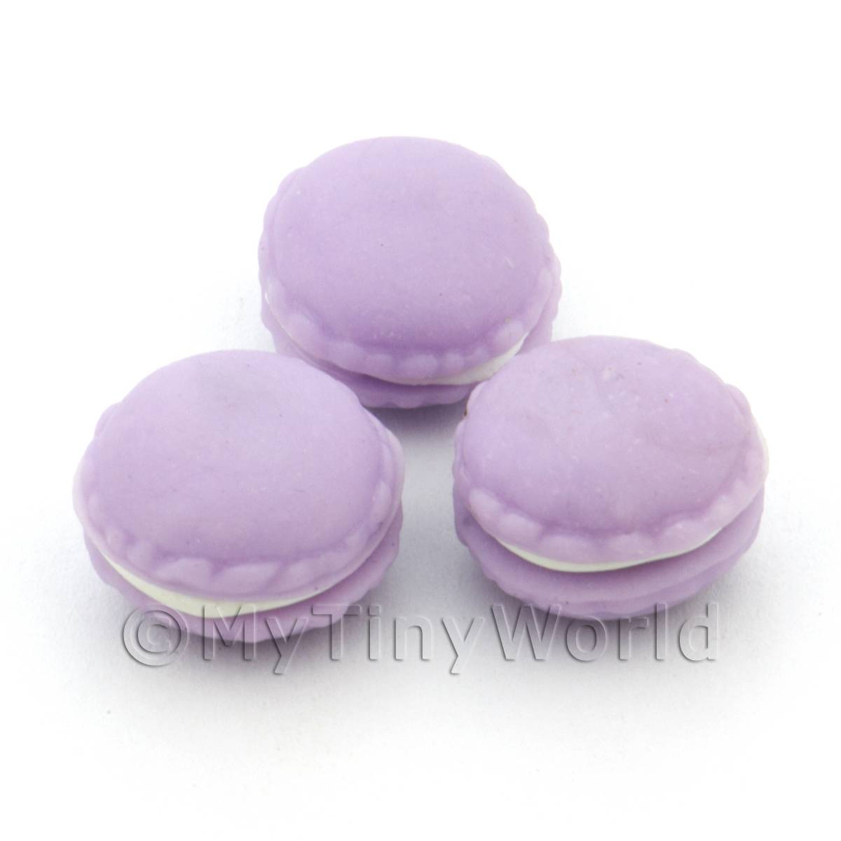 Handmade Mauve Macaroon For Jewellery And Charms