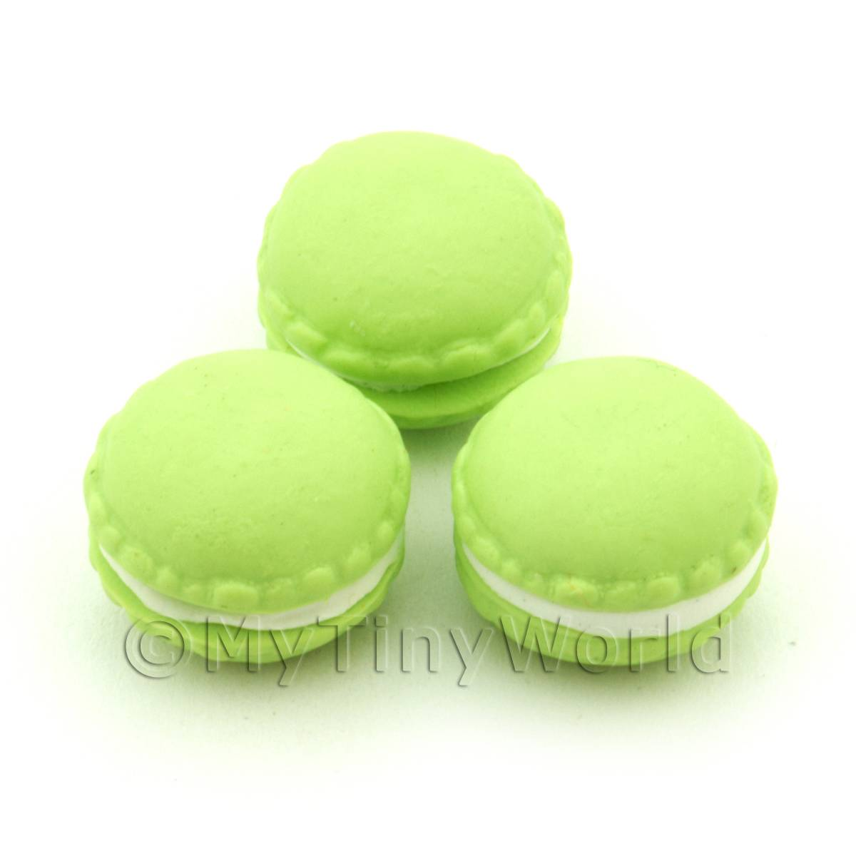 Handmade Lime Macaroon For Jewellery And Charms