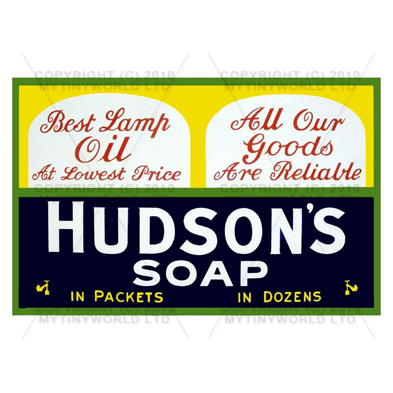 Dolls House Miniature Hudsons Soap Shop Sign Circa 1900