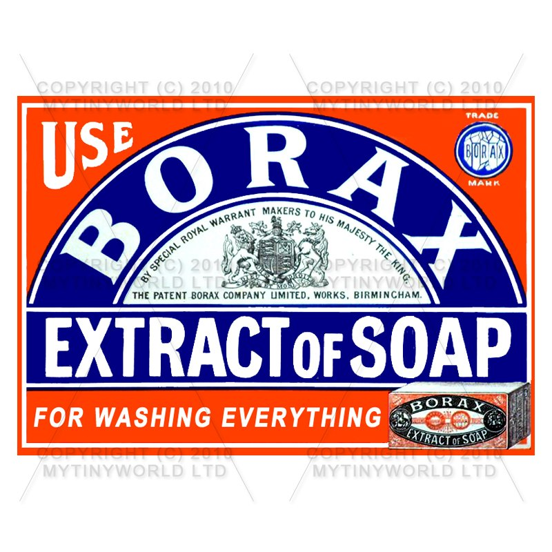 Dolls House Miniature Borax Extract Of Soap Shop Sign Circa 1890