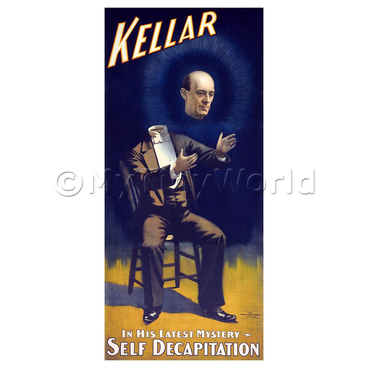 Dolls House Miniature Kellar Magic Poster - His Latest Mystery