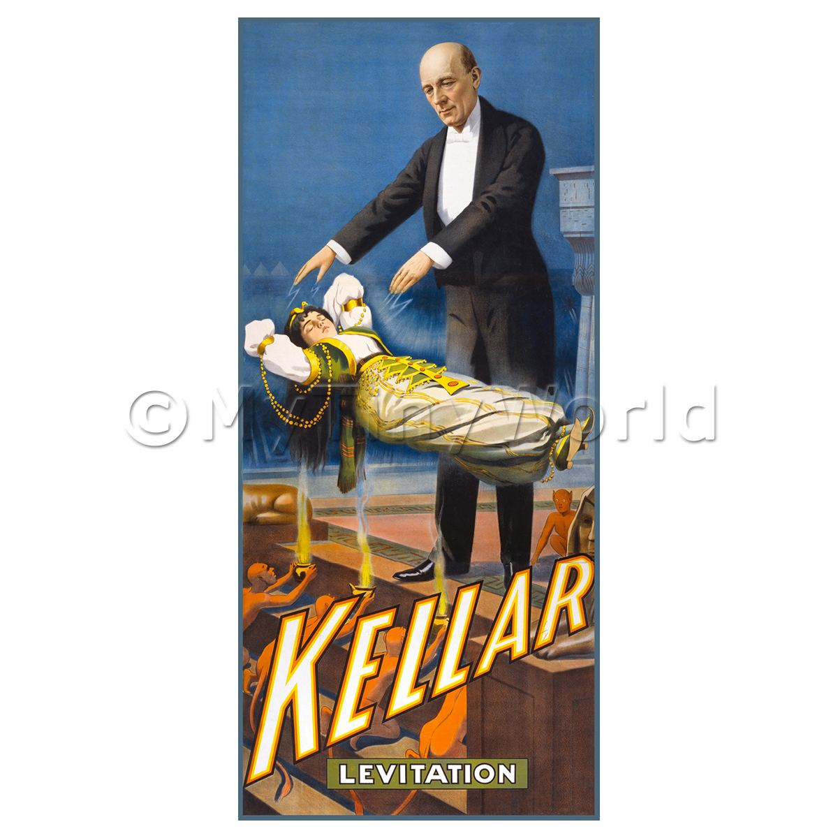 Dolls House Miniature Kellar Magic Poster - Levitation