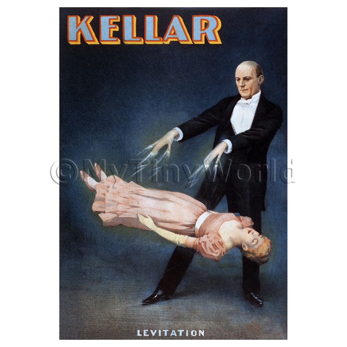 Dolls House Miniature Kellar Magic Poster - Lady Levitation