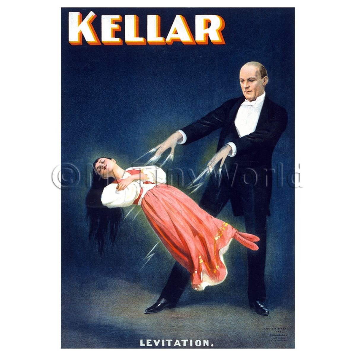 Dolls House Miniature Kellar Magic Poster - Lady Levitation 2