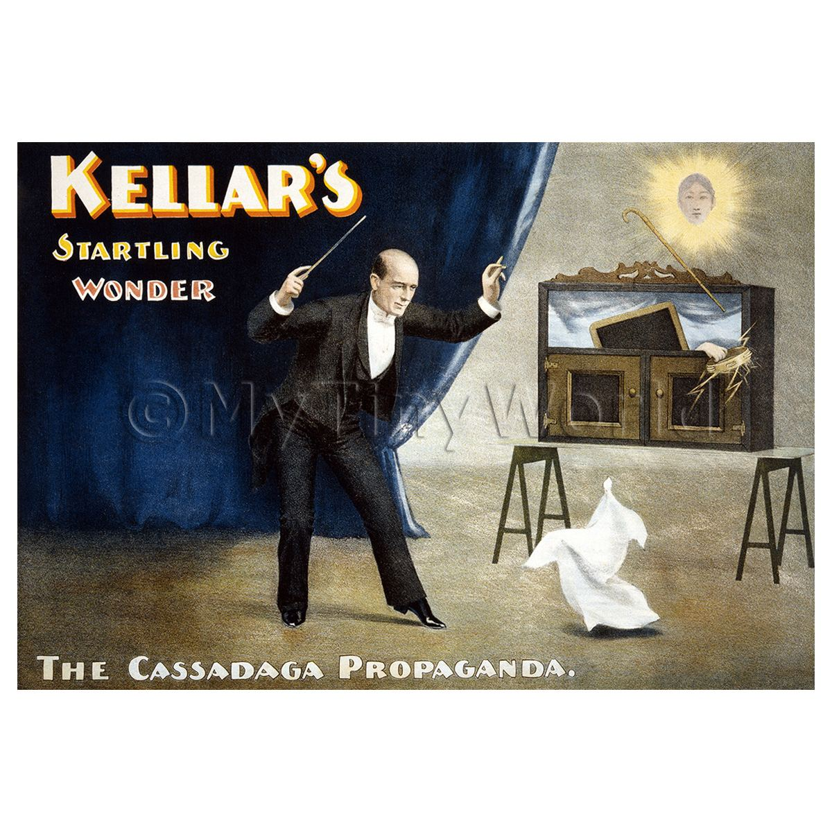 Dolls House Miniature Kellar Magic Poster - Startling Wonder