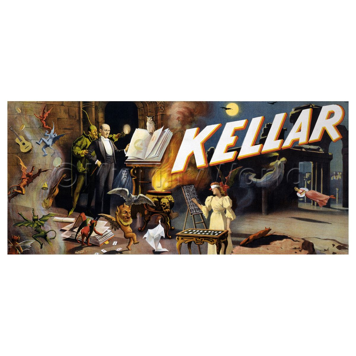 Dolls House Miniature Kellar Magic Poster - Huge Poster