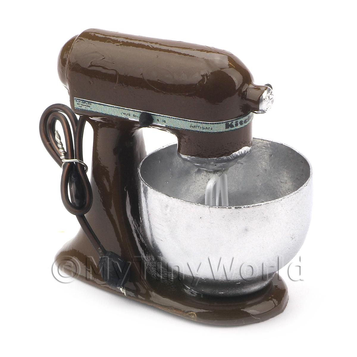 Brown Dolls House Miniature Old Style Batter / Dough Mixer