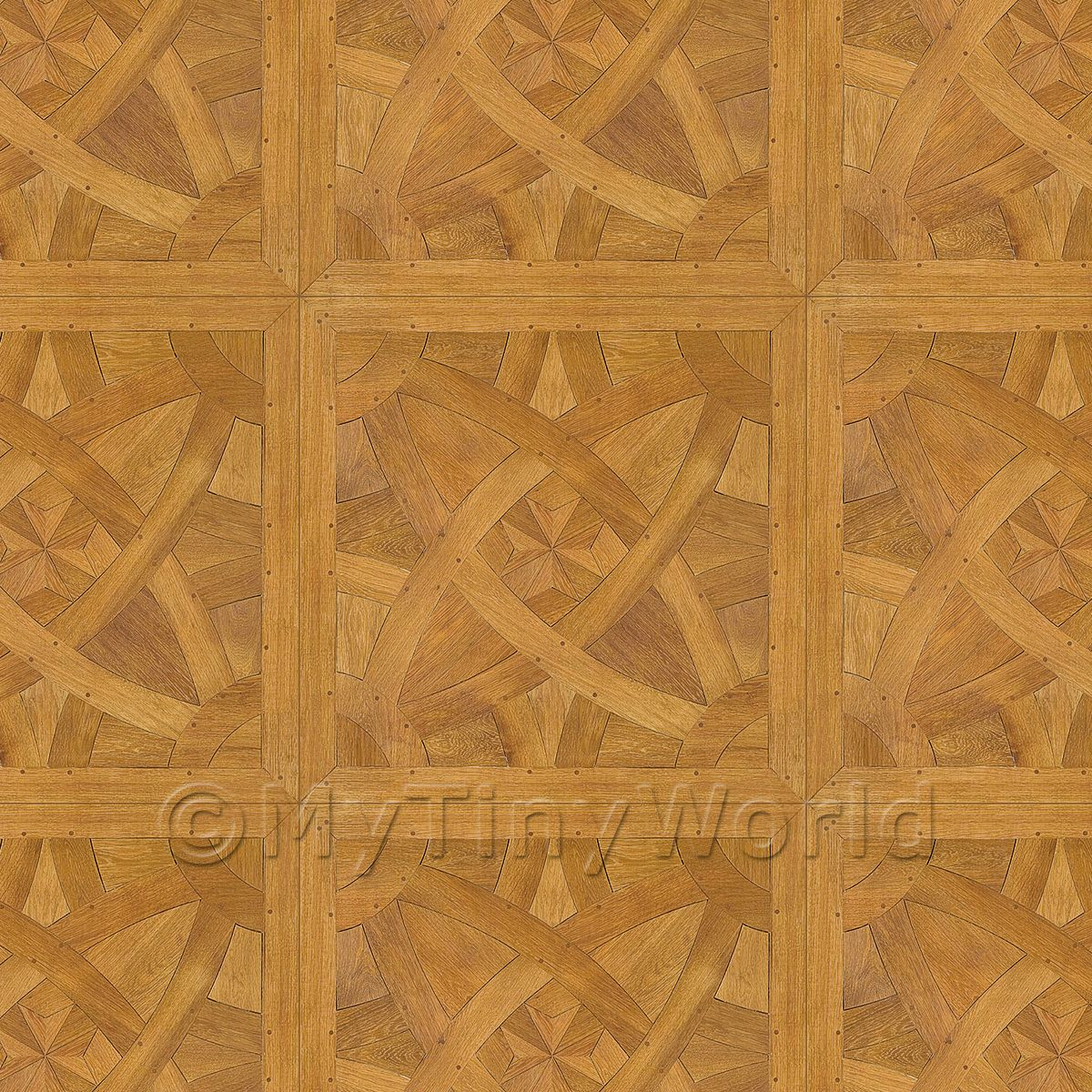 Dolls House La Rochelle Large Panel Parquet Wood Effect Flooring