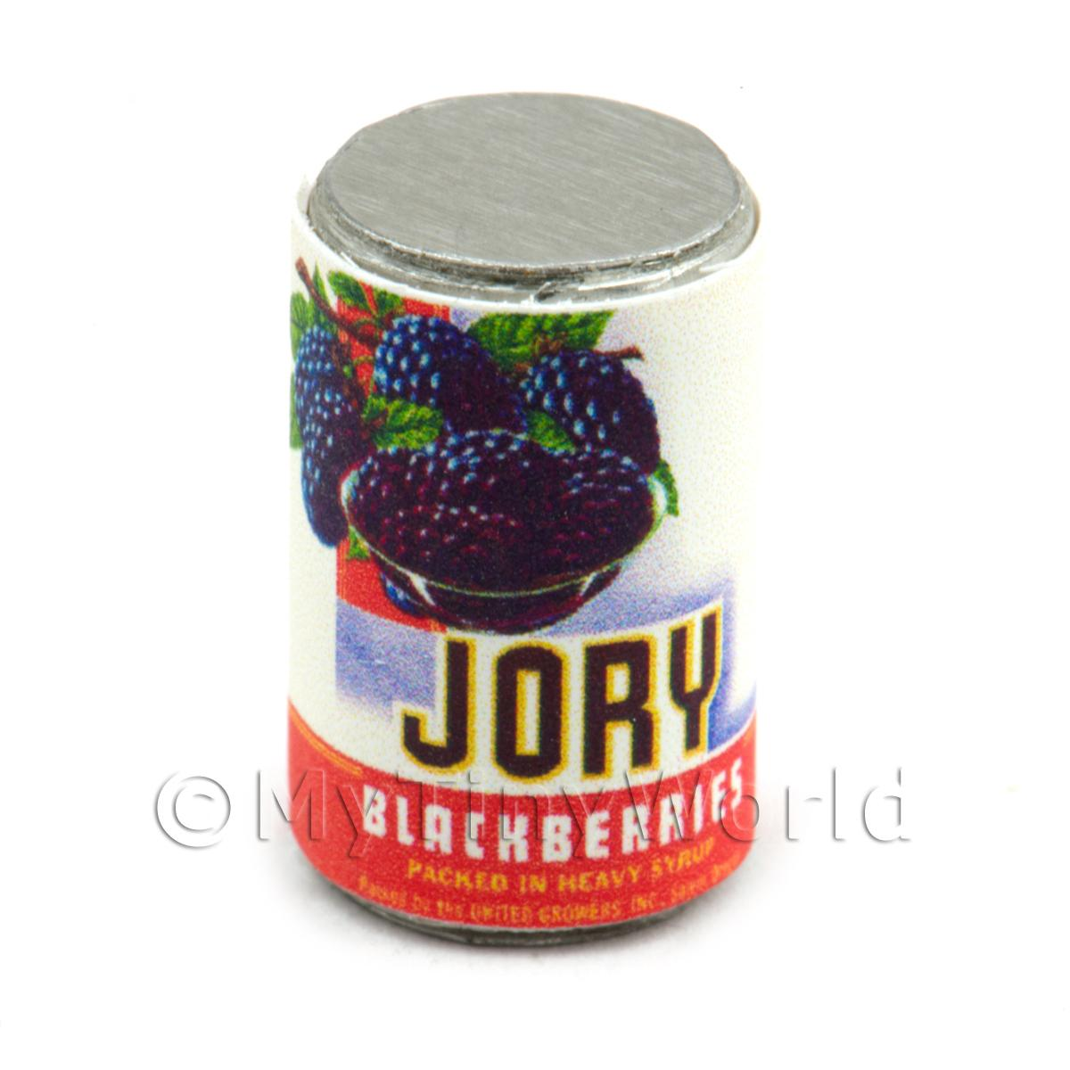 Dolls House Miniature Jory Brand Blackberries  Can (1930s)