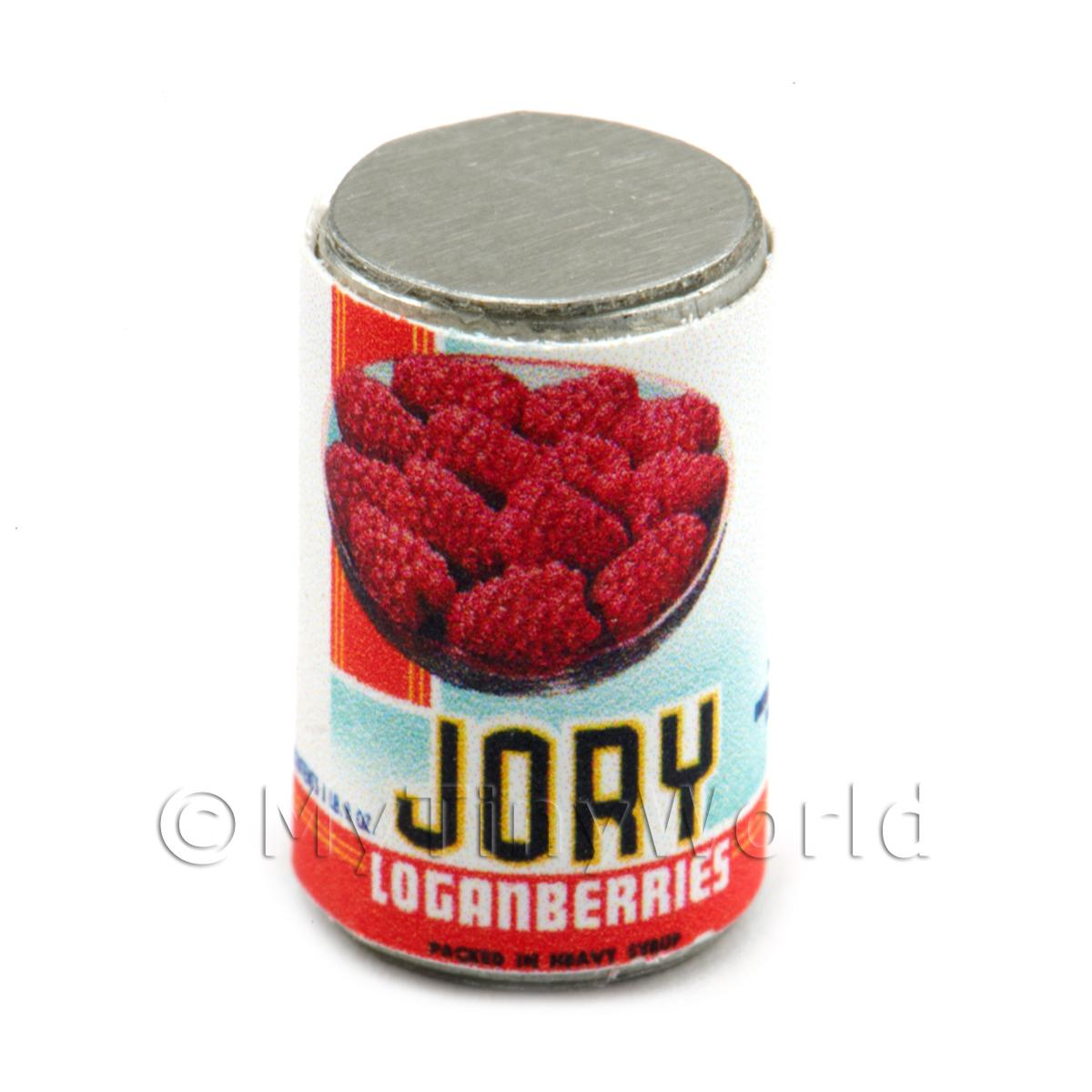 Dolls House Miniature Jory Brand Loganberries  Can (1930s)
