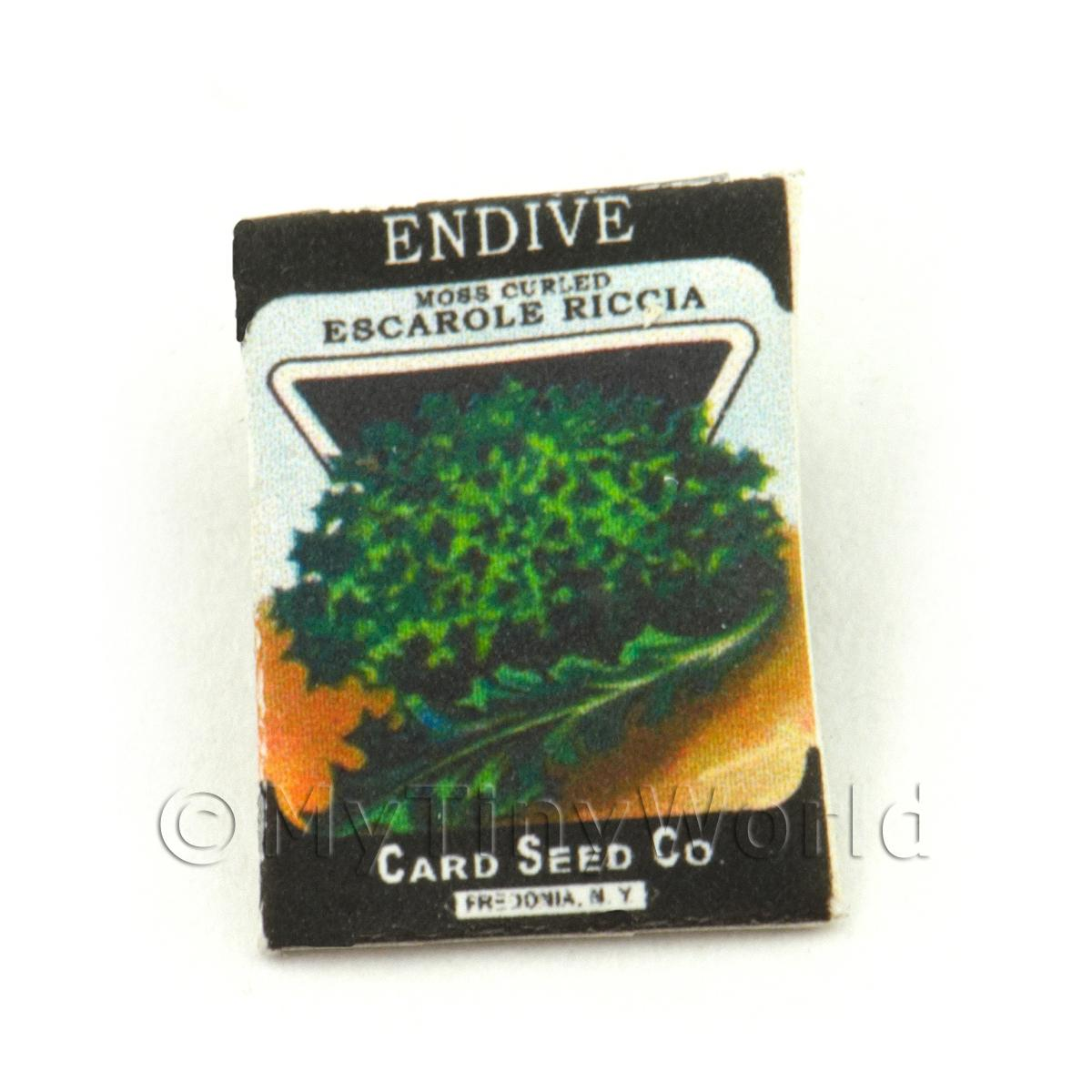 Dolls House Miniature Garden Endive Seed Packet