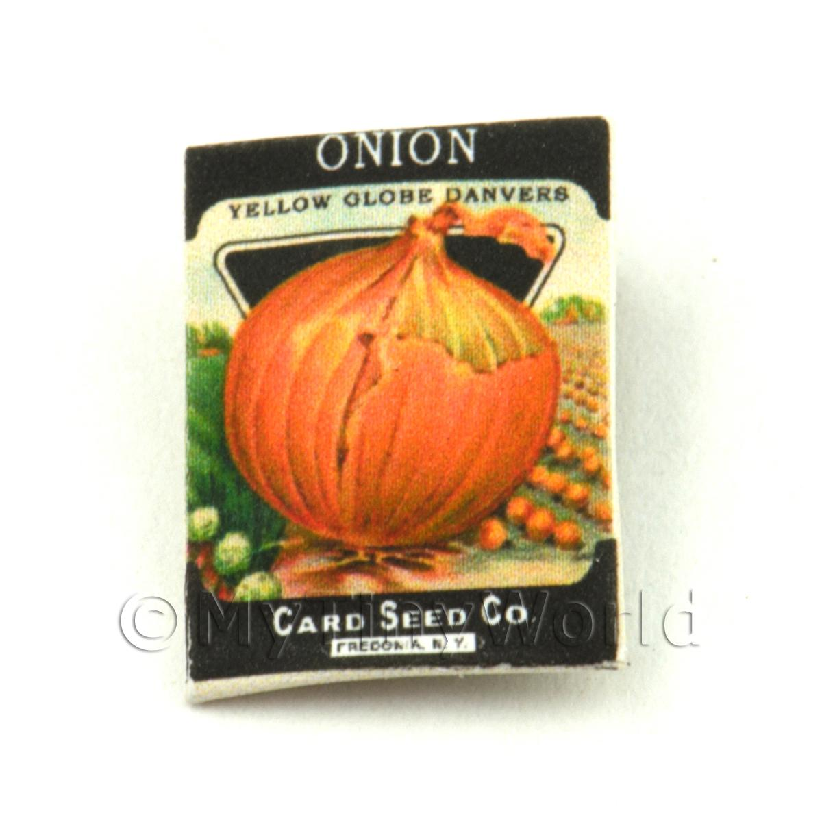 Dolls House Miniature Garden Yellow Onion Seed Packet