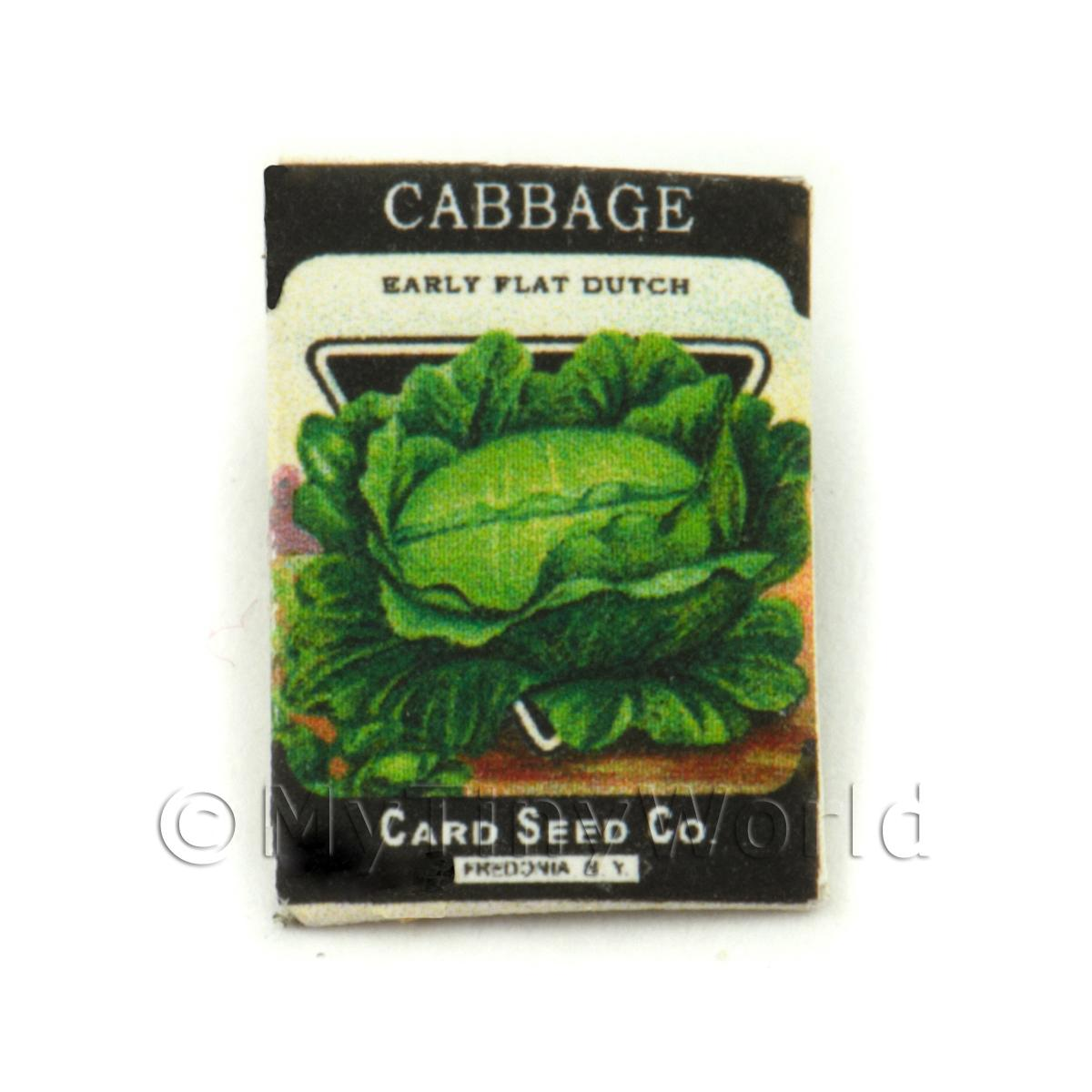 Dolls House Miniature Garden Flat Cabbage Seed Packet
