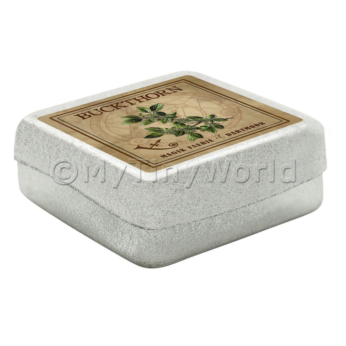 Dolls House Herbalist/Apothecary Buckthorn Square Herb Box
