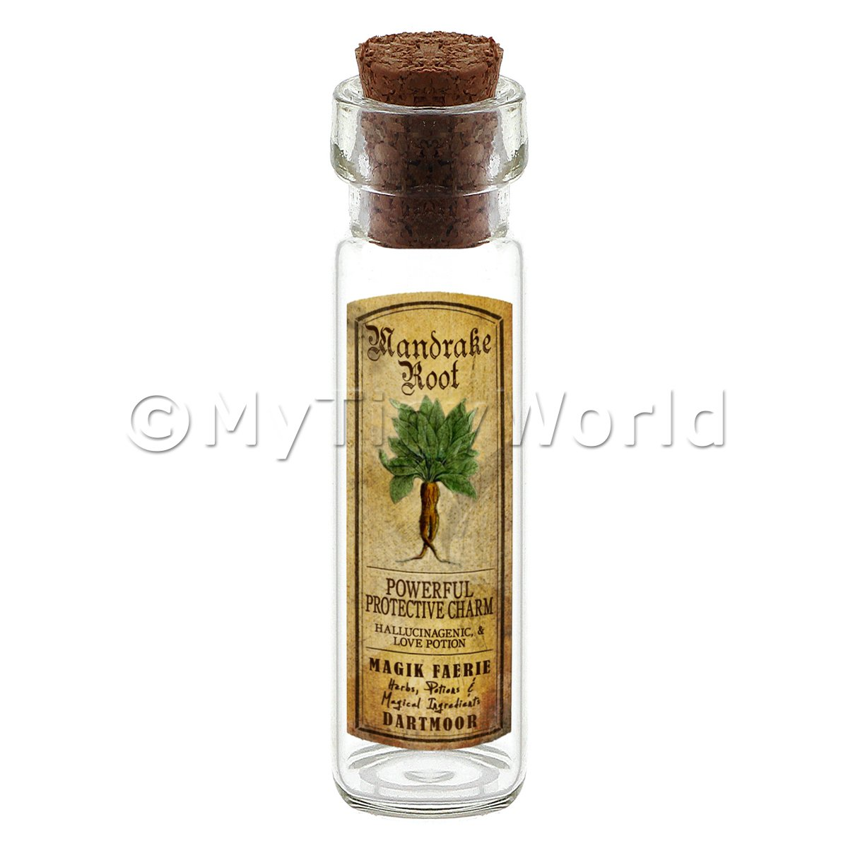 Dolls House Apothecary Mandrake Herb Long Colour Label And Bottle