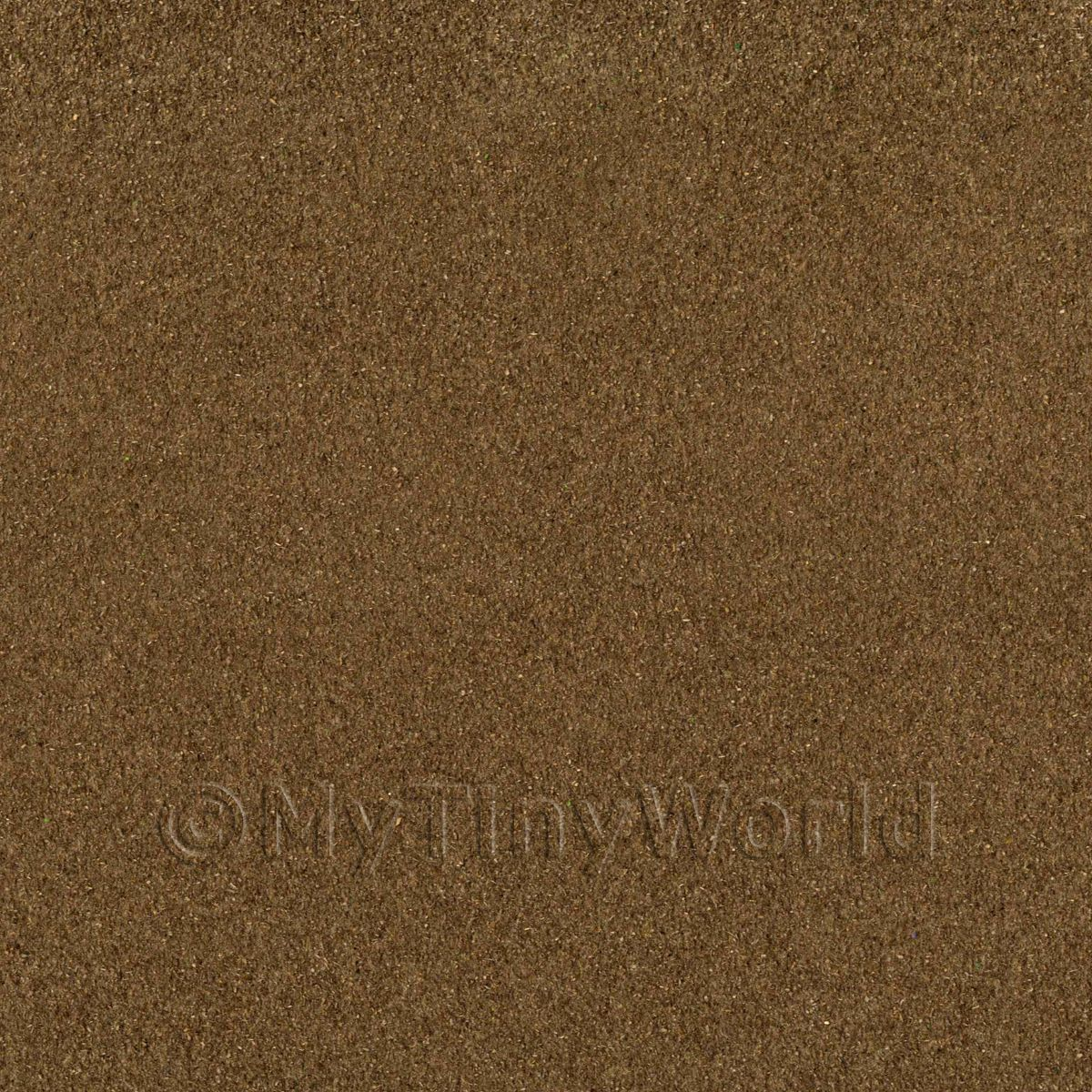 Dolls House Miniature Dark Brown Landscape Mat