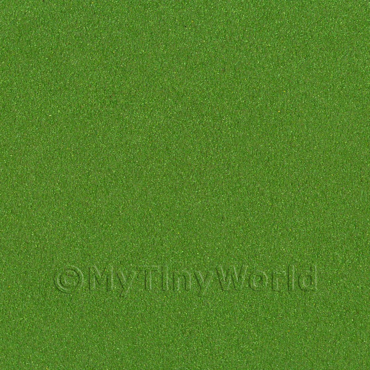 Dolls House Miniature Dark Meadow Green Landscape Mat