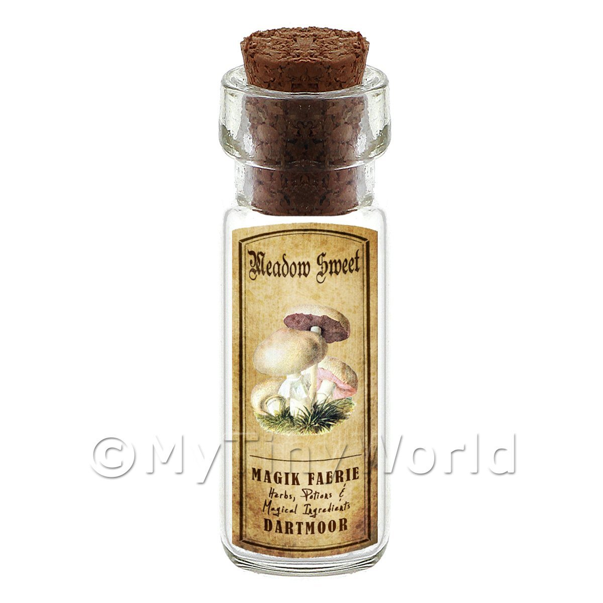 Dolls House Apothecary Meadow Sweet Fungi Bottle And Colour Label
