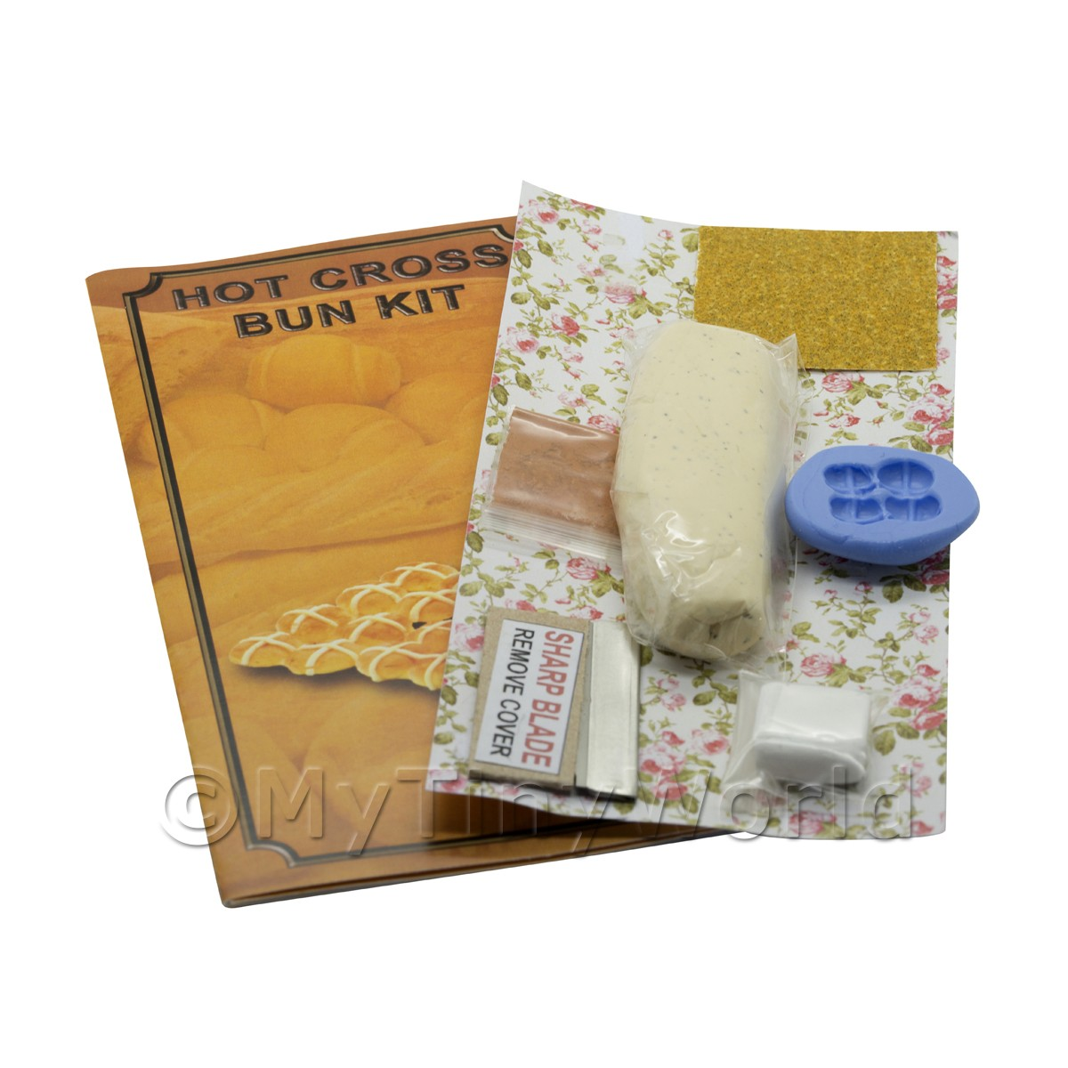 Dolls House Miniature Hot Cross Bun Kit With Silicone Mould