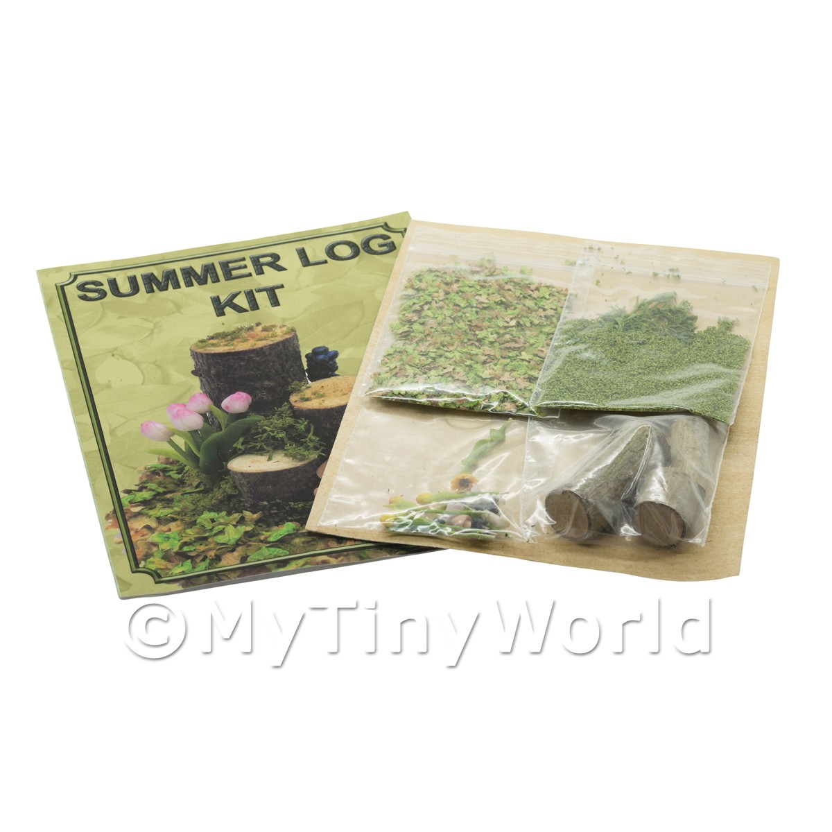 Dolls House Miniature Summer Log Kit