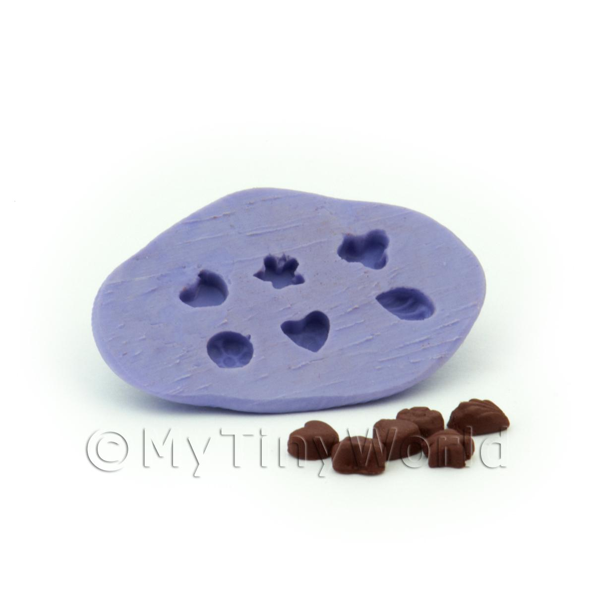 Dolls House Miniature 6 Piece Mixed Shape Chocolates Mould