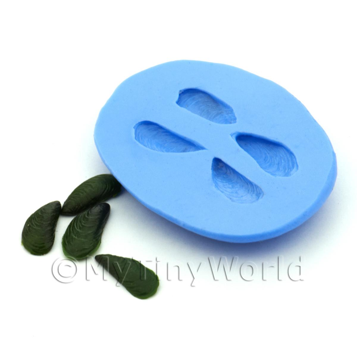 Dolls House Miniature Green Lipped Mussels Silicone Mould