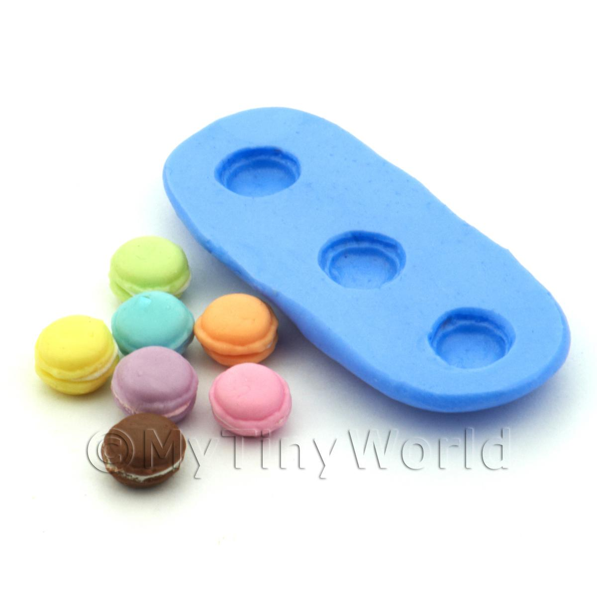 Dolls House Miniature 3 Piece Macaroon Silicone Mould