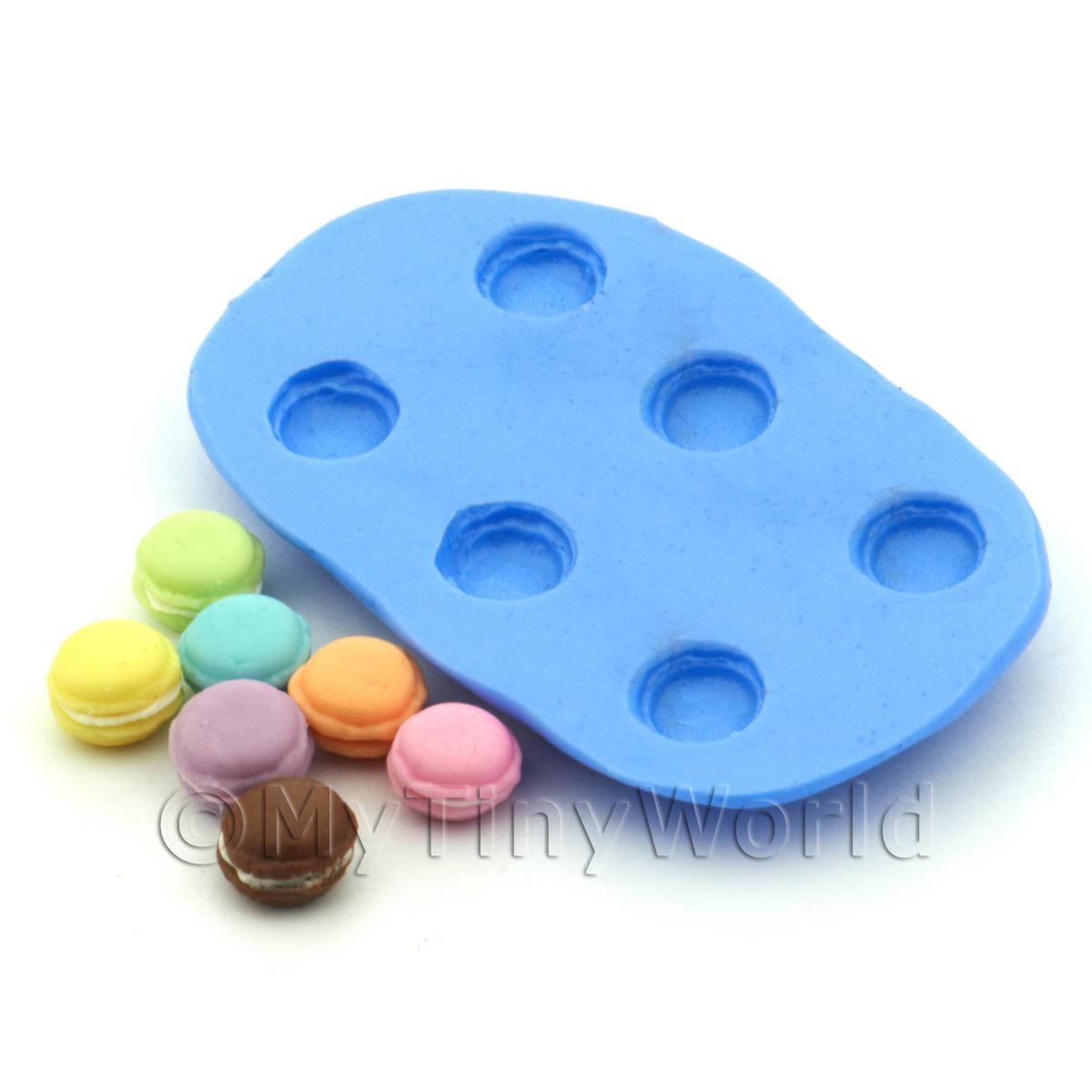 Dolls House Miniature 6 Piece Macaroon Silicone Mould