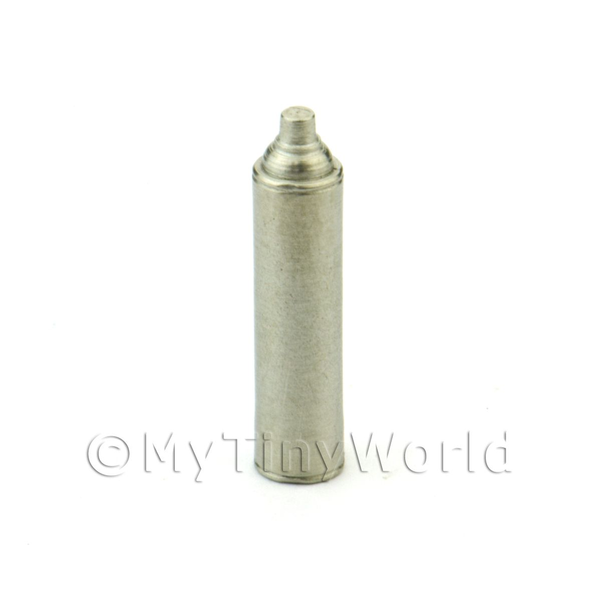 Dolls House Miniature White Metal Modern Aerosol Can
