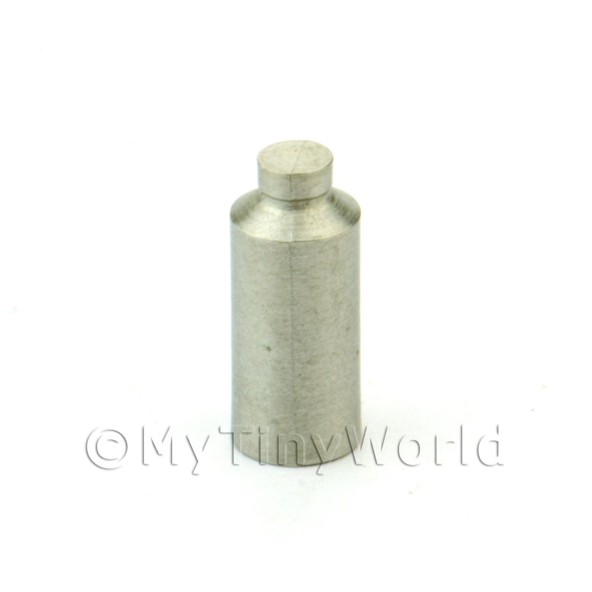 Dolls House Miniature White Metal old Style Polish / Liquid Bottle