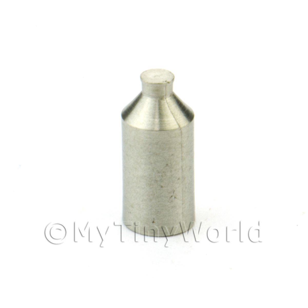 Dolls House Miniature White Metal Old Style Beer Bottle