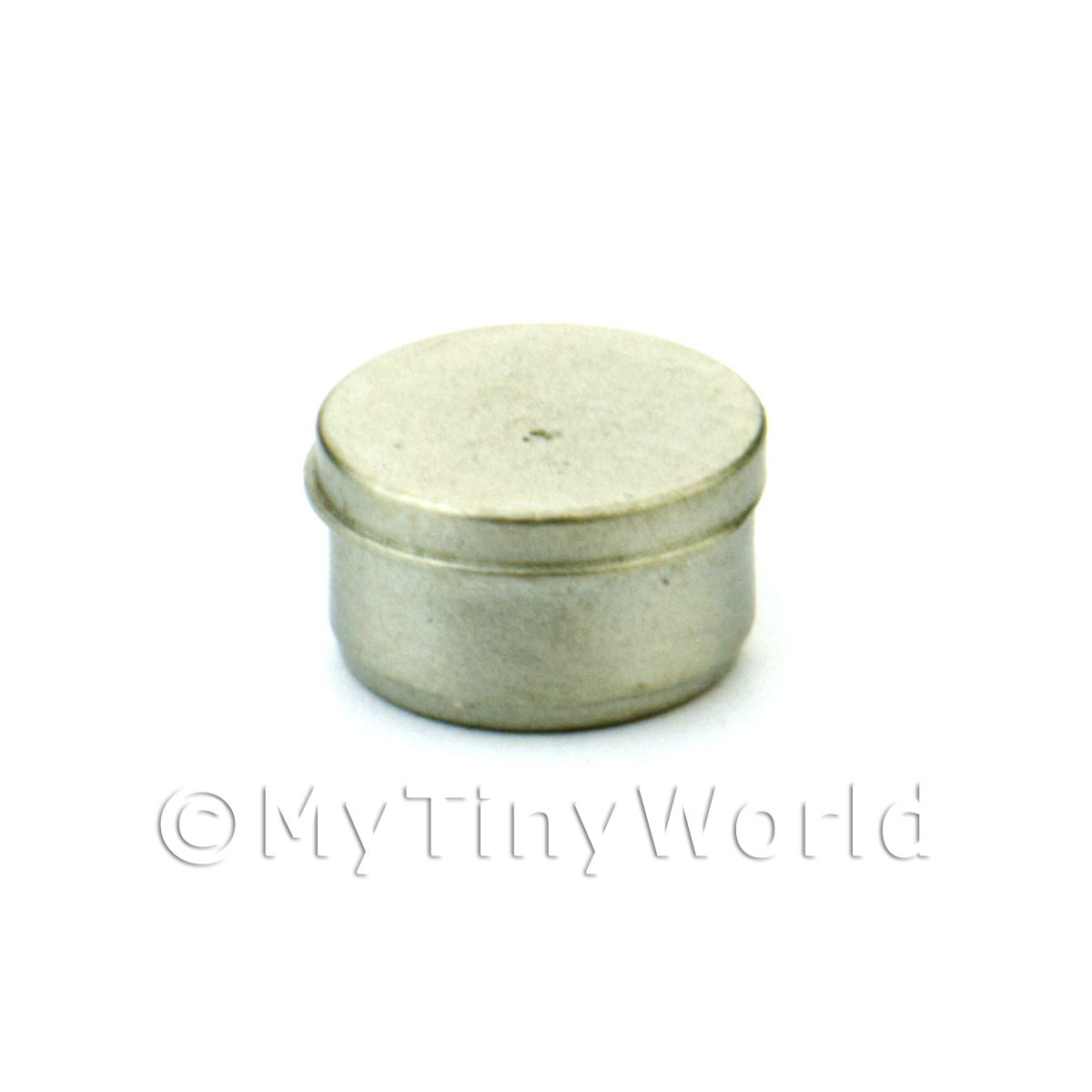 Dolls House Miniature White Metal Screw Lid Tin
