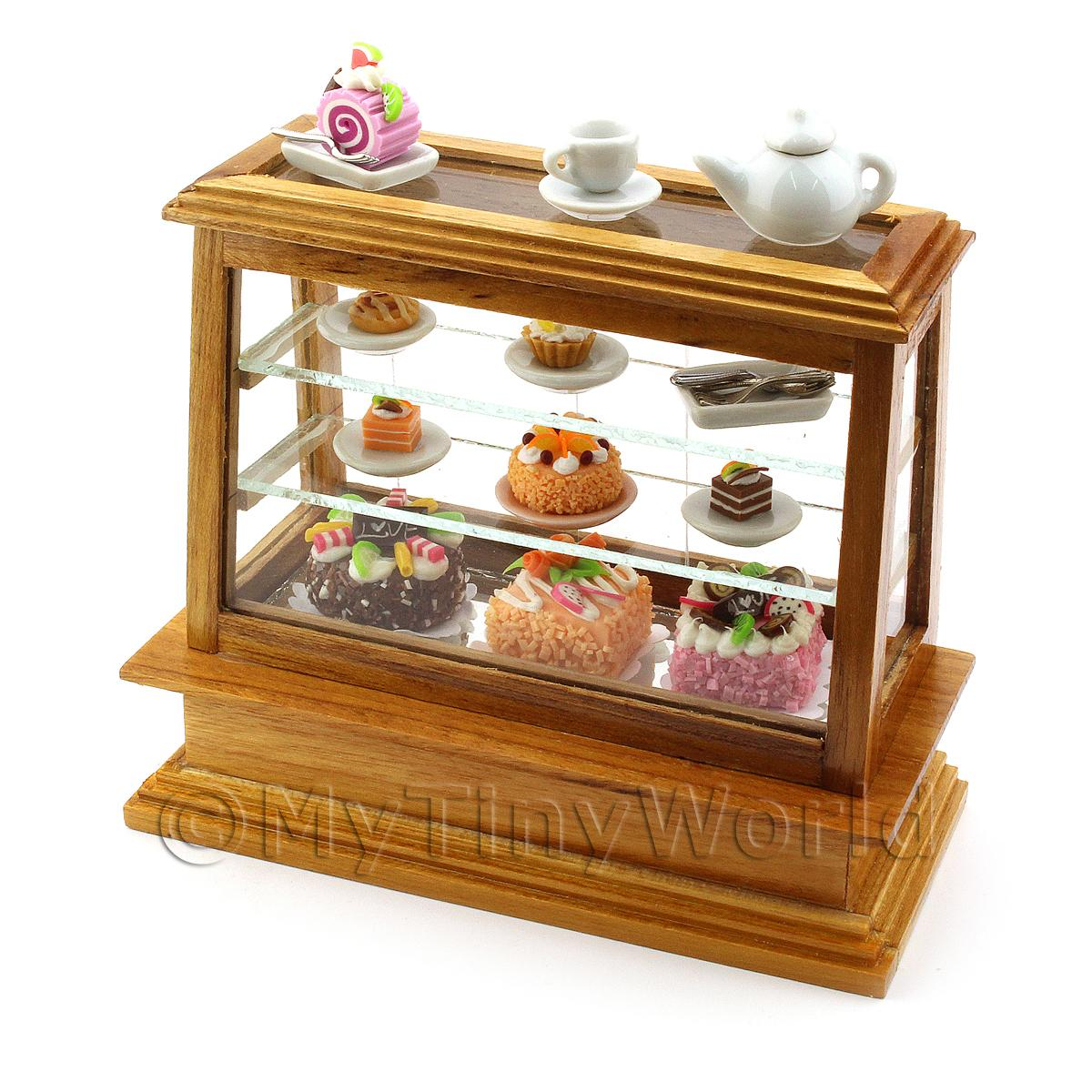 Medium Dolls House Miniature Wood Cafe Counter