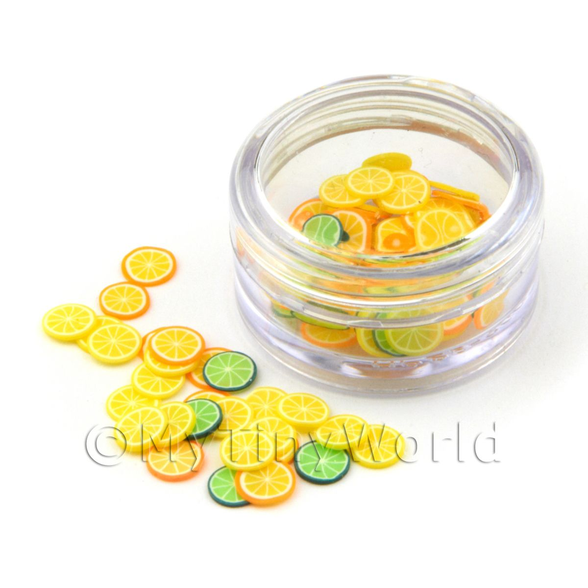 Citrus Themed Nail Art Pot Containing 120 Mixed Slices