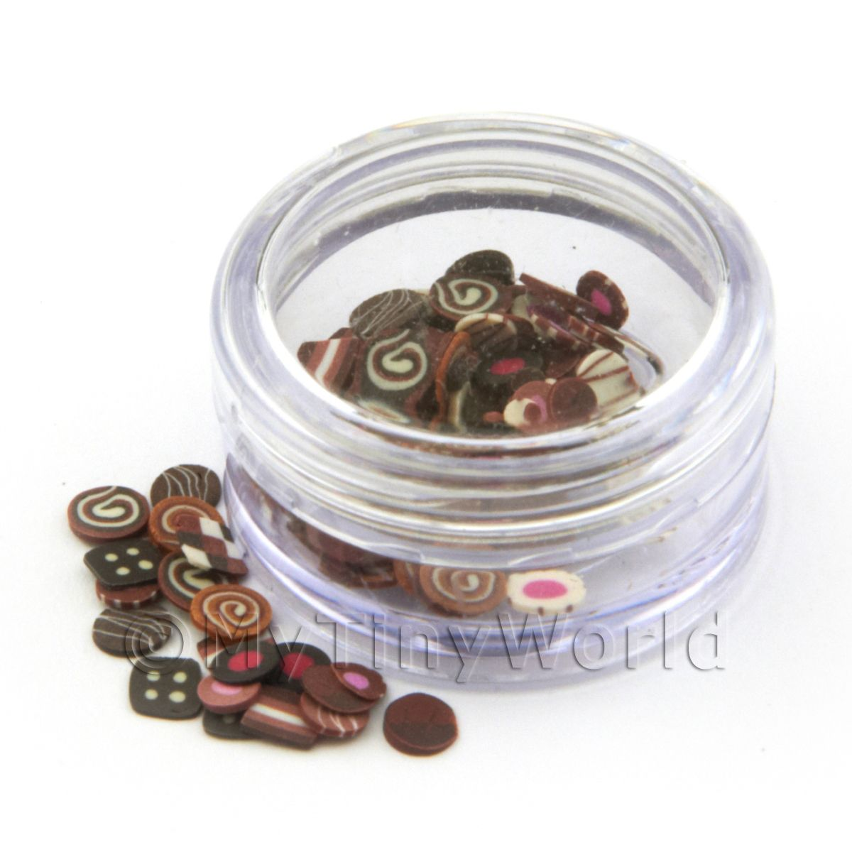 Mixed Chocolate Nail Art Pot Containing 120 Slices