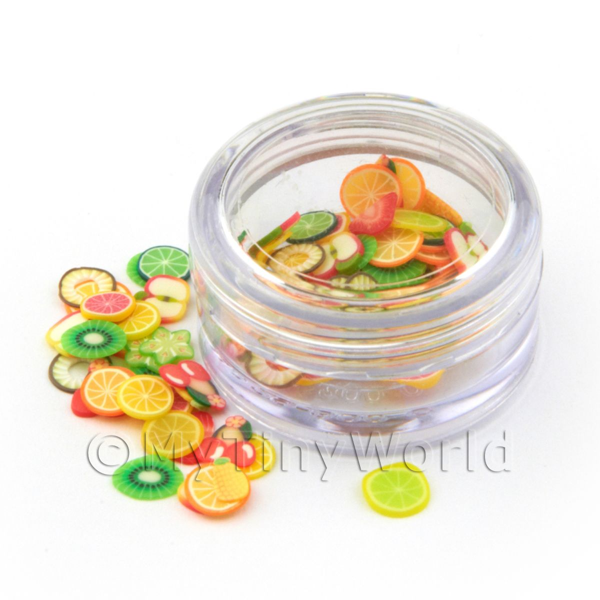 Mixed Fruit Nail Art Pot Containing 120 Slices