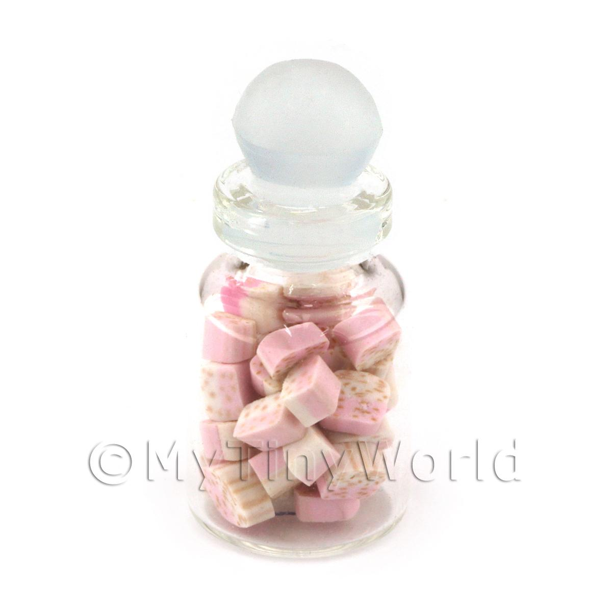 Miniature Handmade Nougat Pieces In a Glass Jar