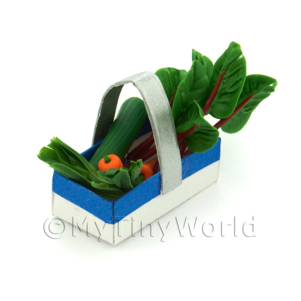Handmade Dolls House Miniature Punnet With Mixed Vegetables