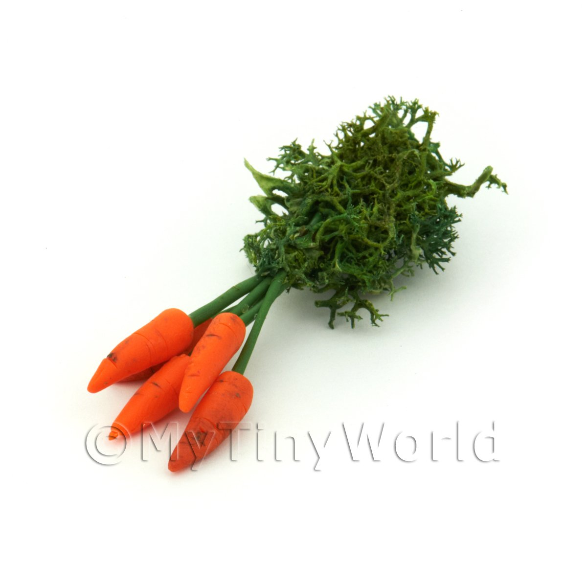 Dolls House Miniature Bunch Of 5 Handmade Carrots