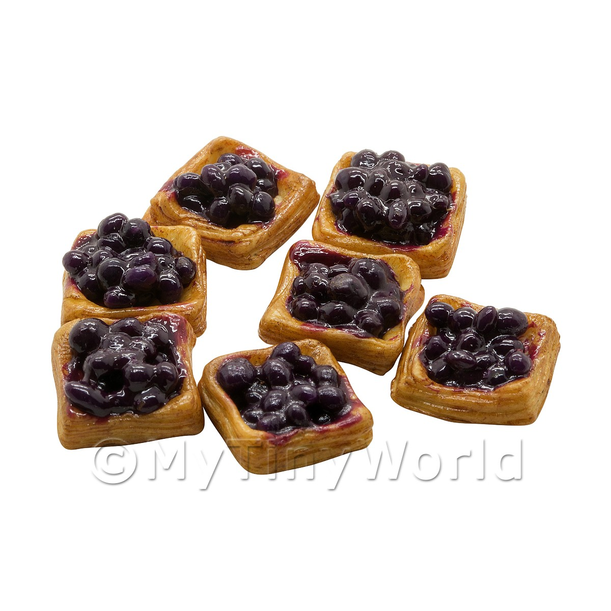 Square Puff Pastry Topped With Berries