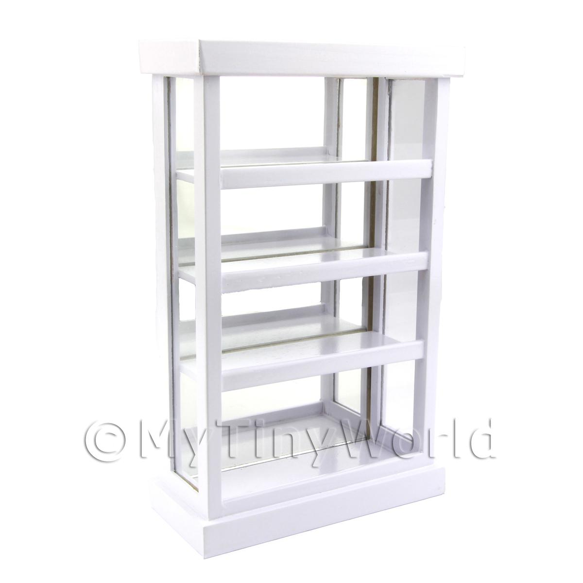 Dolls House Miniature White Wood Bakery Display Unit