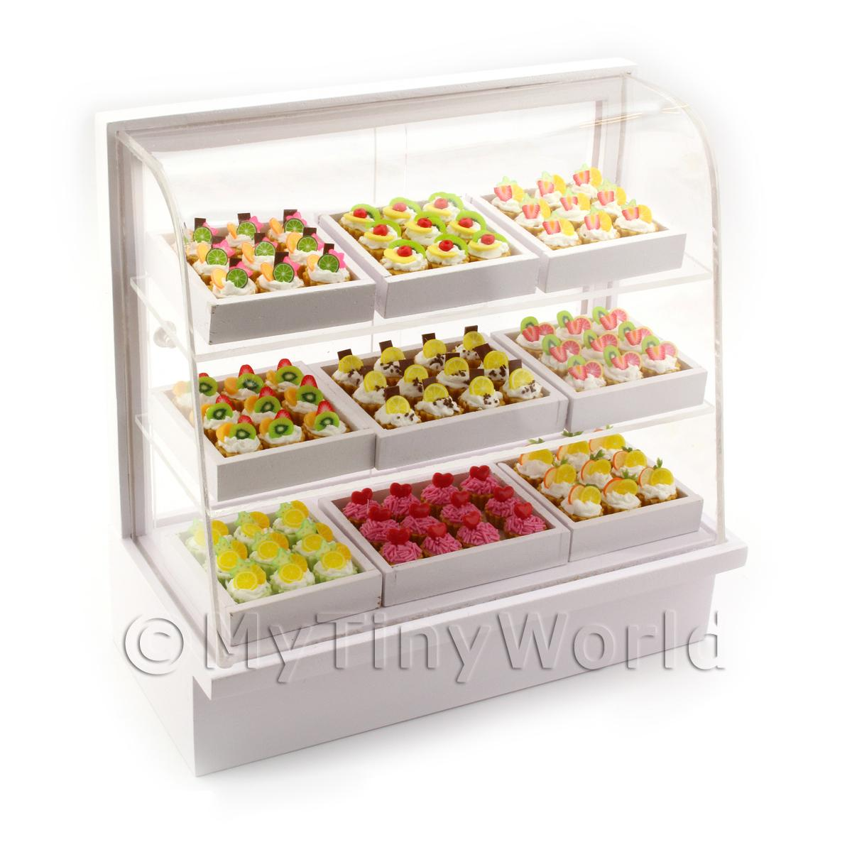 Dolls House Miniature Tart Filled Bakery Counter