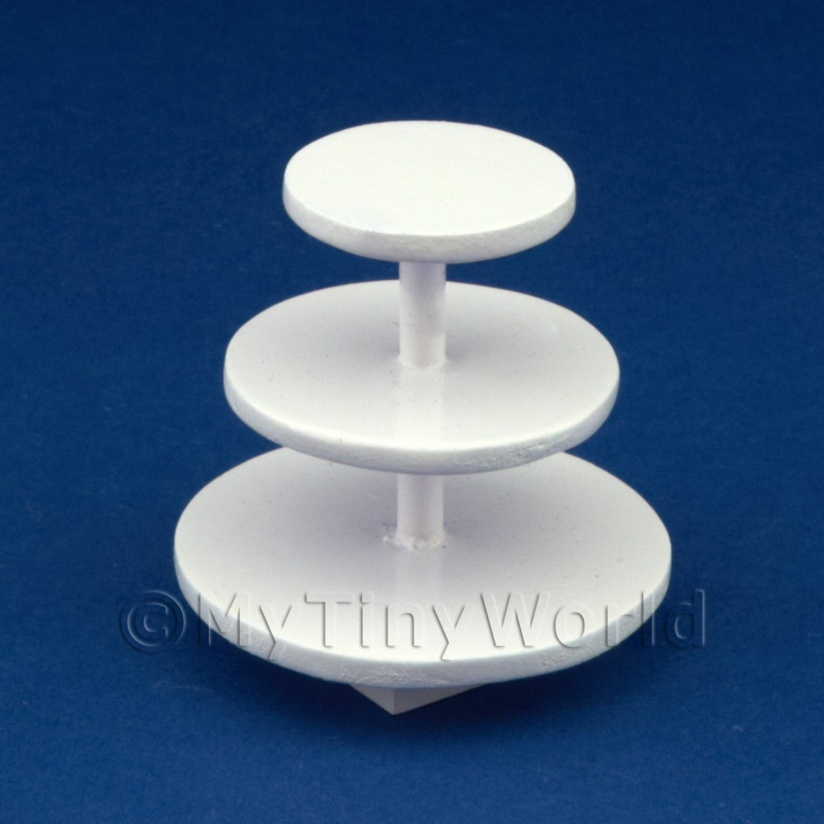 Dolls House Miniature 3 Tier Hardwood Cake Stand