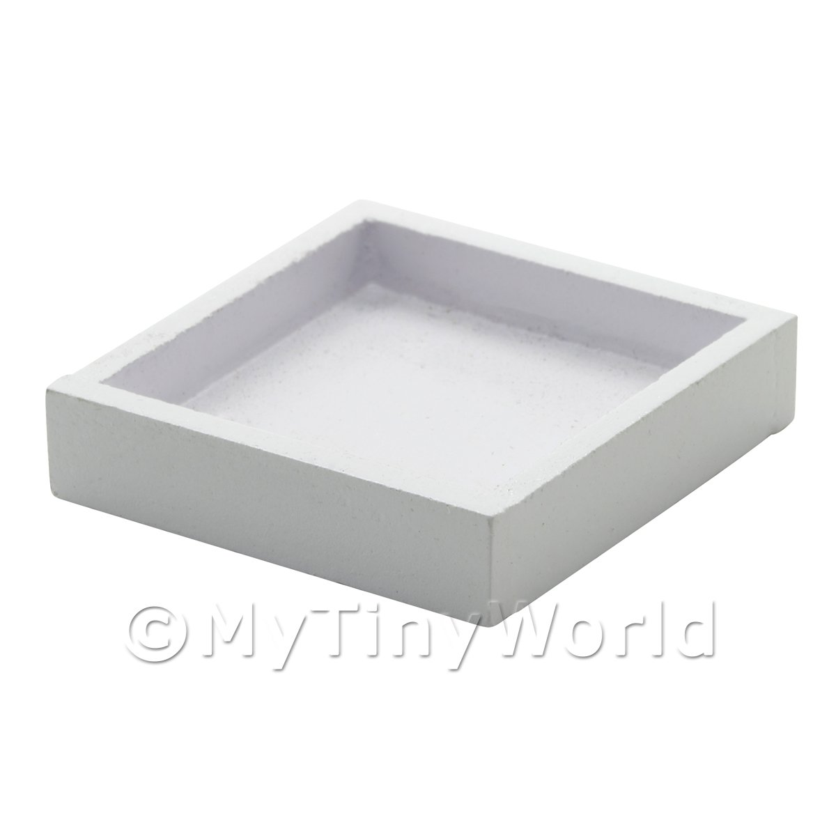 Dolls House Miniature White Wood Display Tray