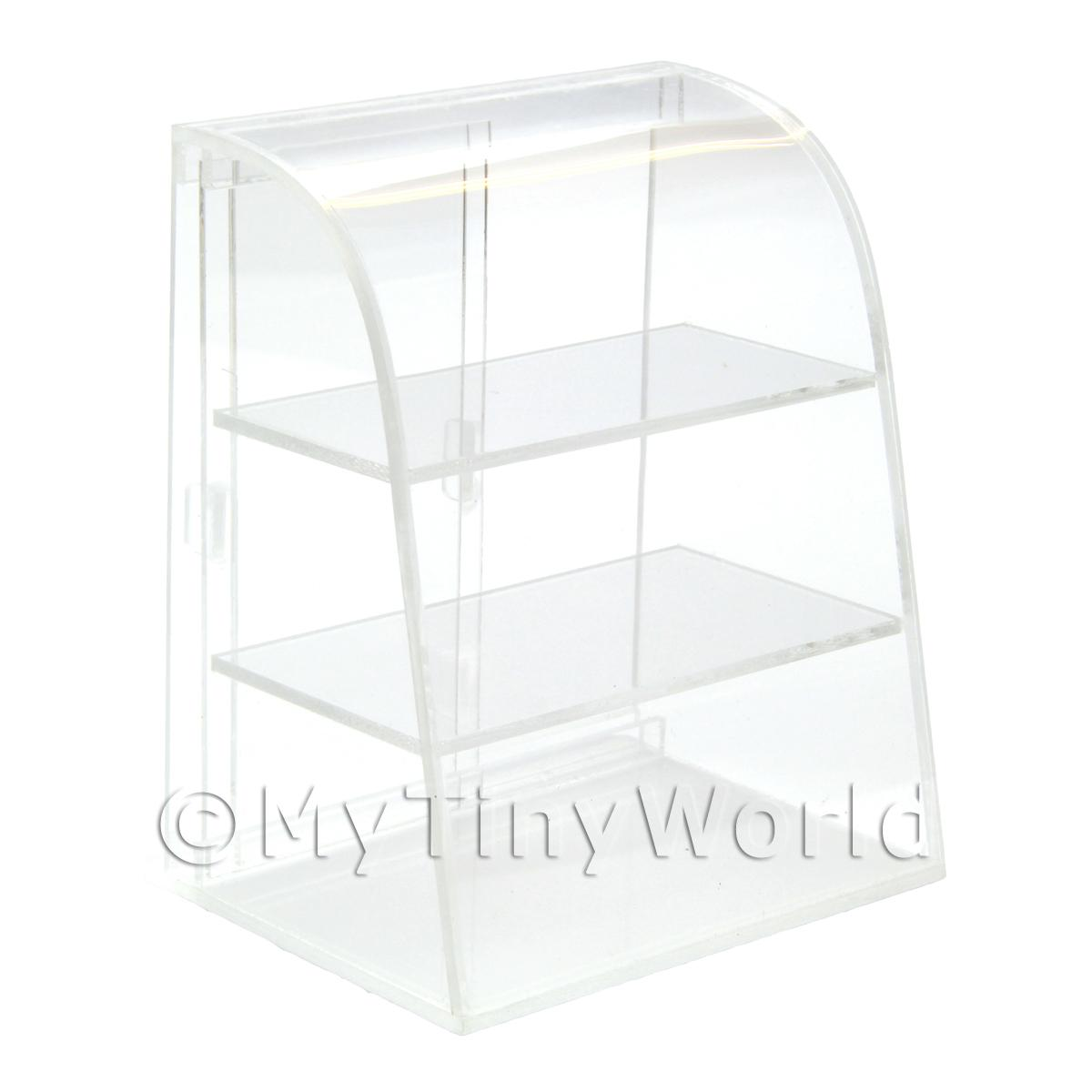 Dolls House Miniature Clear Acrylic Table Top Display Unit